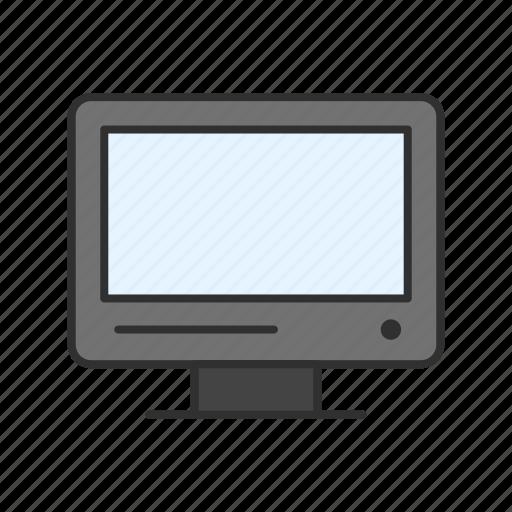 computer, monitor, pc, tv icon