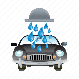 automobile, car, service, truck, vehicle, wash, water icon