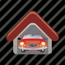 garage, auto, automobile, car, vehicle