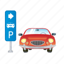 auto, car, parking, service, vehicle icon