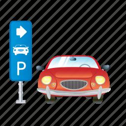 auto, car, parking, service, vehicle icon