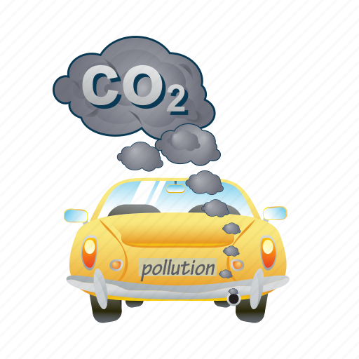 car, eco, ecology, energy, pollution, smoke icon