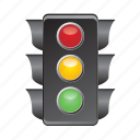 lights, road, semaphore, signal, traffic icon
