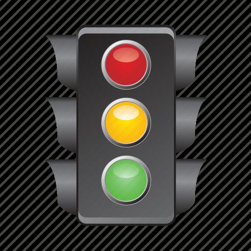 lights, road, semaphore, signal, traffic icon