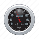 auto, automobile, car, gauge, speedometer, vehicle icon