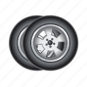 car, tire, transport, vehicle, wheel icon