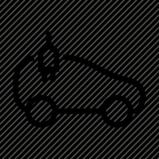 automobile, car, electric, electricity, plug, power, renewable icon