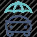 auto insurance, car insurance, protection, umbrella, vehicle icon