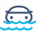 car, damage, disaster, flood, insurance, rain, water icon
