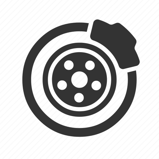 brake, car, disc, disk icon