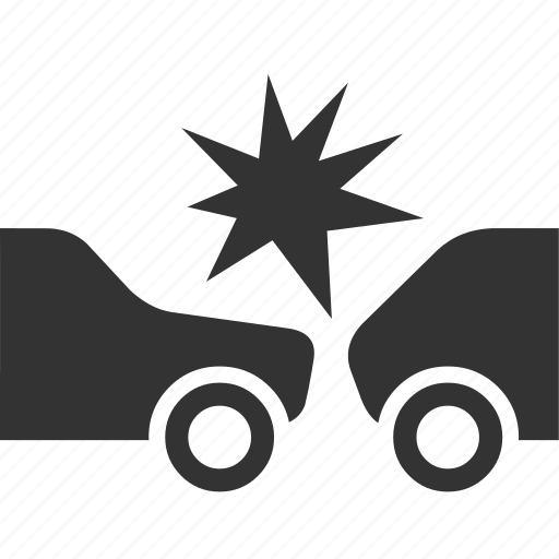 accidernt, car, collision, crash icon