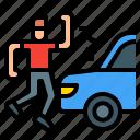 accident, car, crash, danger, pedestrian, road
