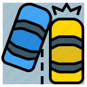 accident, car, crash, lane, safety, transportation icon