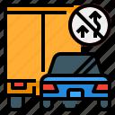 overtake, road, safety, street, traffic, transportation icon