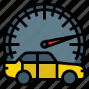 dashboard, drive, panel, speed, speedometer, transportation