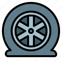 accident, automobile, car, tire, wheel