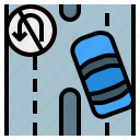 asphalt, highway, road, street, transportation, turn icon