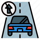danger, direction, road, safety, way, wrong icon