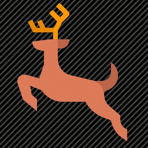 animal, crossing, danger, deer, traffic, wildlife icon