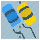 danger, dangerous, road, slip, snow, transport icon