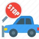 accident, crash, safety, stop, traffic, warning icon