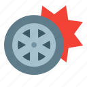 accident, blowout, rubber, tire, vehicle, wheel