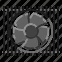 air, cooler, electric, fan, ventilator icon