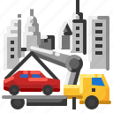 car, service, tow, truck icon