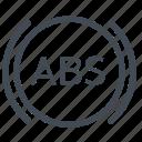 abs, warning