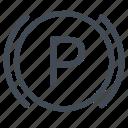 brake, parking, parking brake icon