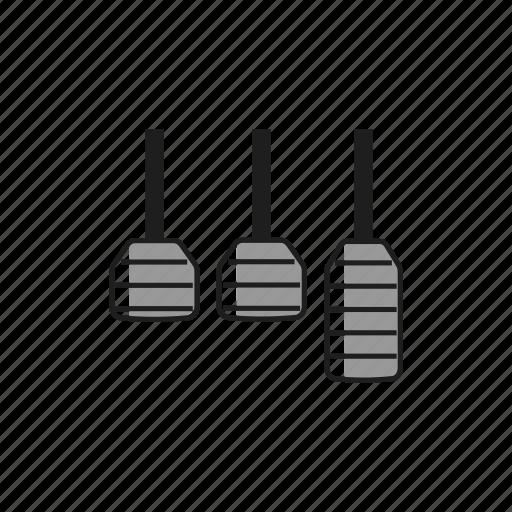 accelerator, auto, brake, car, clutch, gas, pedals icon