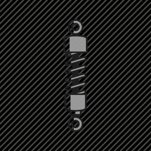 absorb, car, component, damper, shock, spring, suspension icon