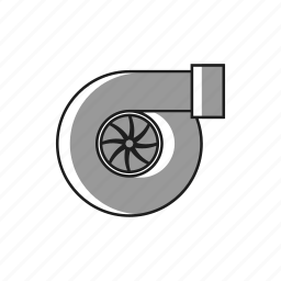 boost, car, fast, performance, pressure, speed, turbo icon