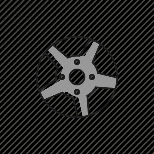 alloy, bolt, car, four, rim, tyre, wheel icon