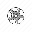 alloy, bolt, car, light, rim, tire, wheel icon