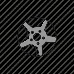 alloy, bolt, car, light, rim, tire, wheel icon