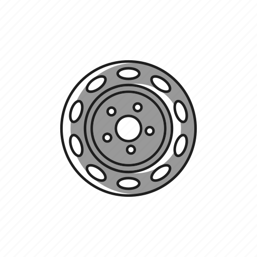 alloy, car, rim, rubber, spare, steel, wheel icon