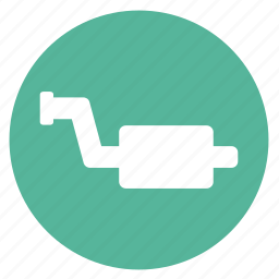 car, exhaust, muffler, pipe icon