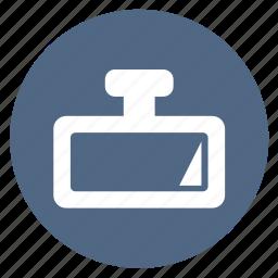 car, mirror, rear, rearview icon