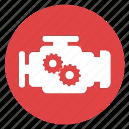 car, diesel, engine, motor, power icon