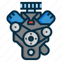 auto, car, engine, machine, mechanic, motor, power icon