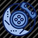 automotive, brake, disc, part, plate, spare, vehicle icon