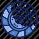 automotive, clutch, disc, part, plate, spare, vehicle icon