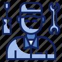 engineer, maintenance, mechanic, repair, service, technician, worker icon