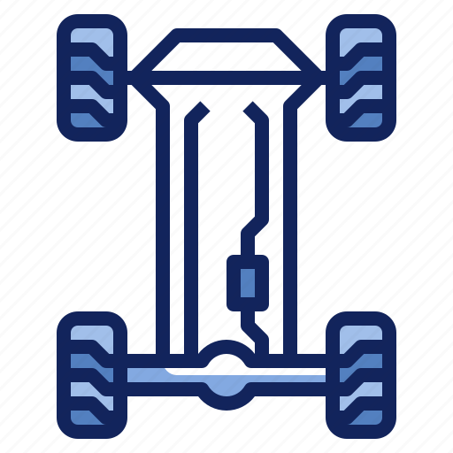 automotive, car, chassis, repair, suspension, vehicle icon