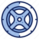 car, rims, rubber, tire, tyre, vehicle, wheel icon