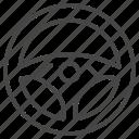 car, control, hand wheel, insurance, steering wheel icon