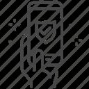 app, car, guarantee, insurance, mobile, protection icon