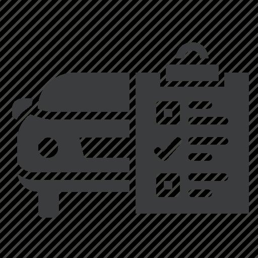 car, check, garage, list, maintenance, repair, service icon