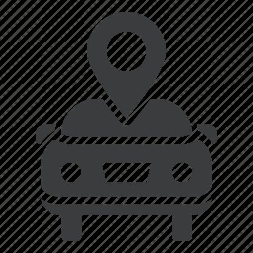car, delaer, garage, gps, location, map marker, sale icon